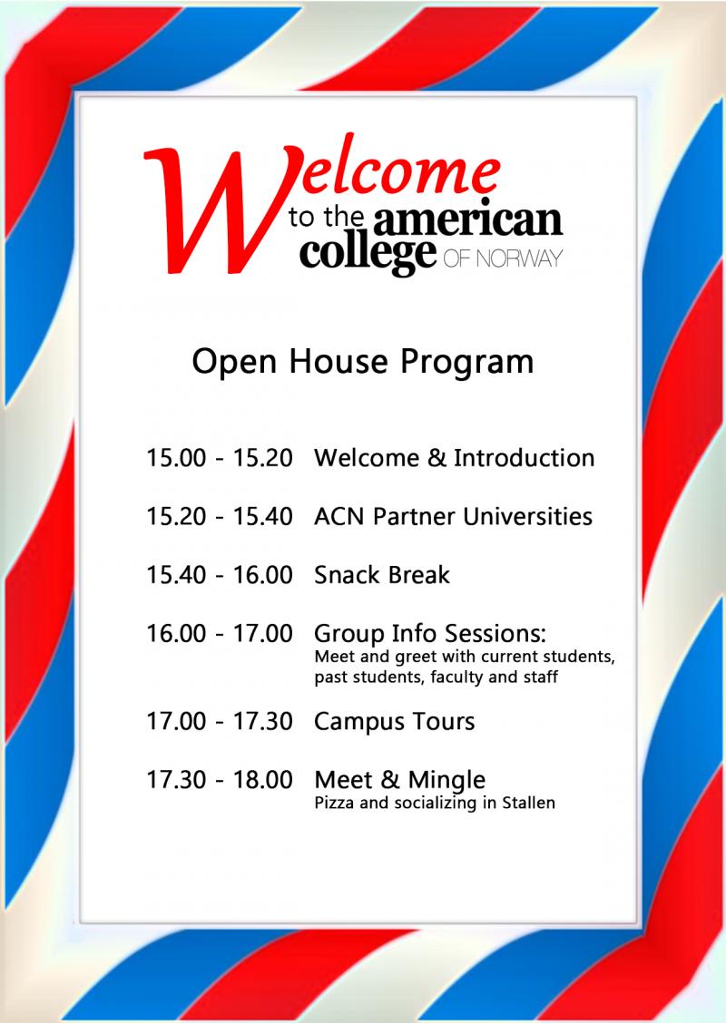 Open House Program 2018